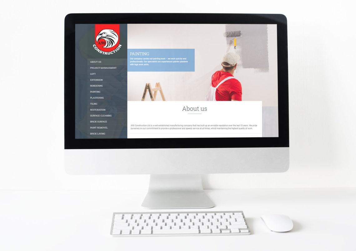 Создание сайта и дизайн логотипа для строительной компании в Лондоне